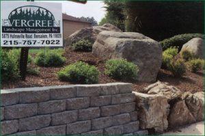 stone wall installation bucks county