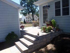 yardley pa blue stone step install