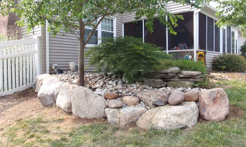 boulder retaining wall yardley