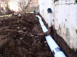 french drain construction bucks county