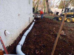 french drain install bucks county