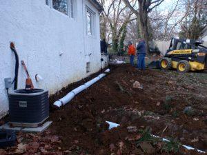 bucks county french drain contractor