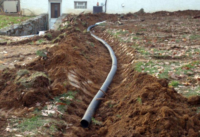 bucks county french drain install