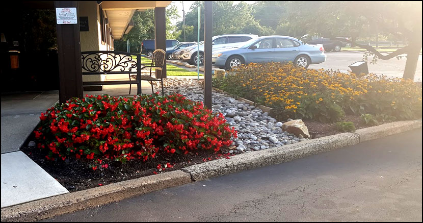 commercial flower bed care bucks county
