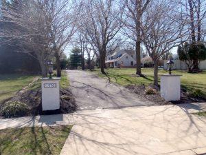driveway pier installation bucks county