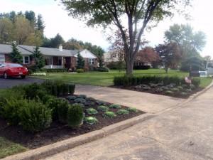 driveway planting bucks county
