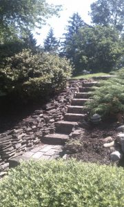 huntington valley stone steps installation
