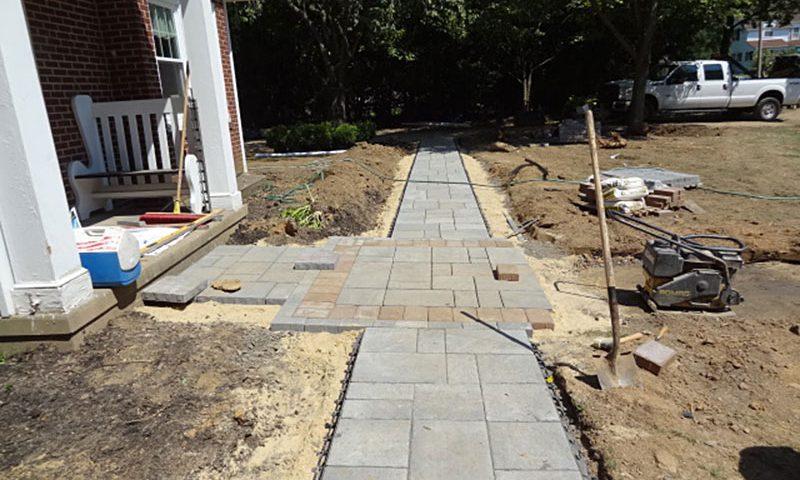 paver walkway install langhorne manor