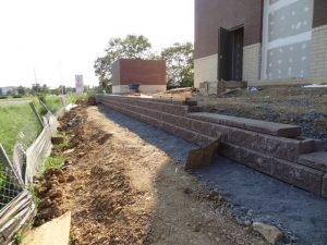 commercial retaining wall construction langhorne pa