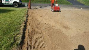 lawn renovation yardley slit seed