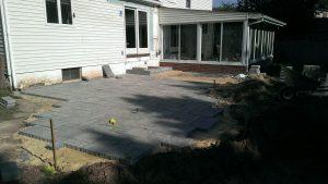 newtown pa stone patio installation