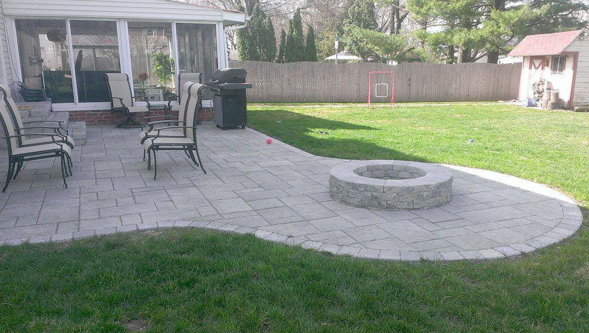 newtown pa stone stone patio installation