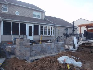 bucks county patio kitchen construction