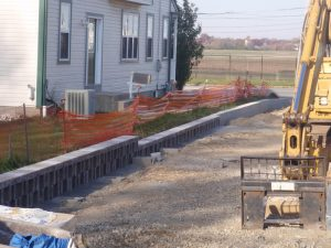 commercial retaining wall construction philly