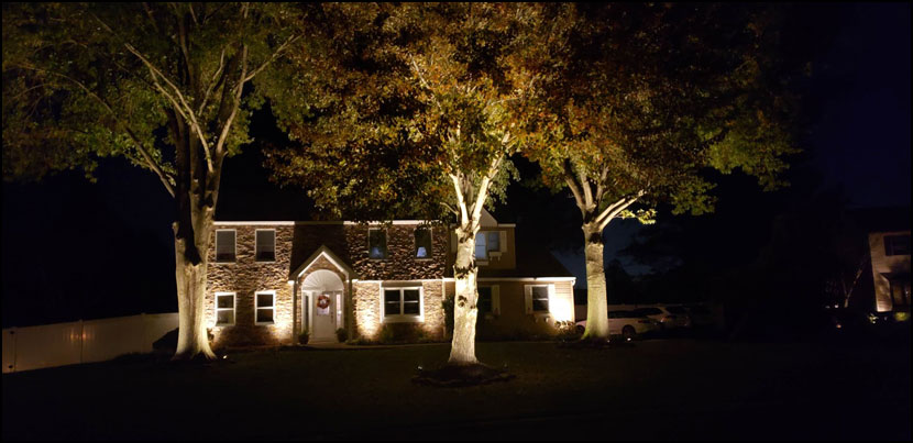 residential landscape lighting bucks county