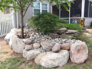 yardley pa boulder retaining wall